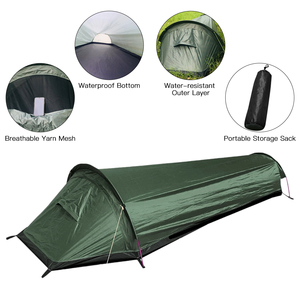 Lixada Ultralight Tent Backpacking Tent Outdoor Camping Sleeping Bag Tent Lightweight Single Person Bivvy BagTent