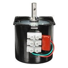AC 220V 60KTYZ 14W yüksek tork 50Hz 60KTYZ senkron dişli elektrik motoru yedek 220V 60r/min