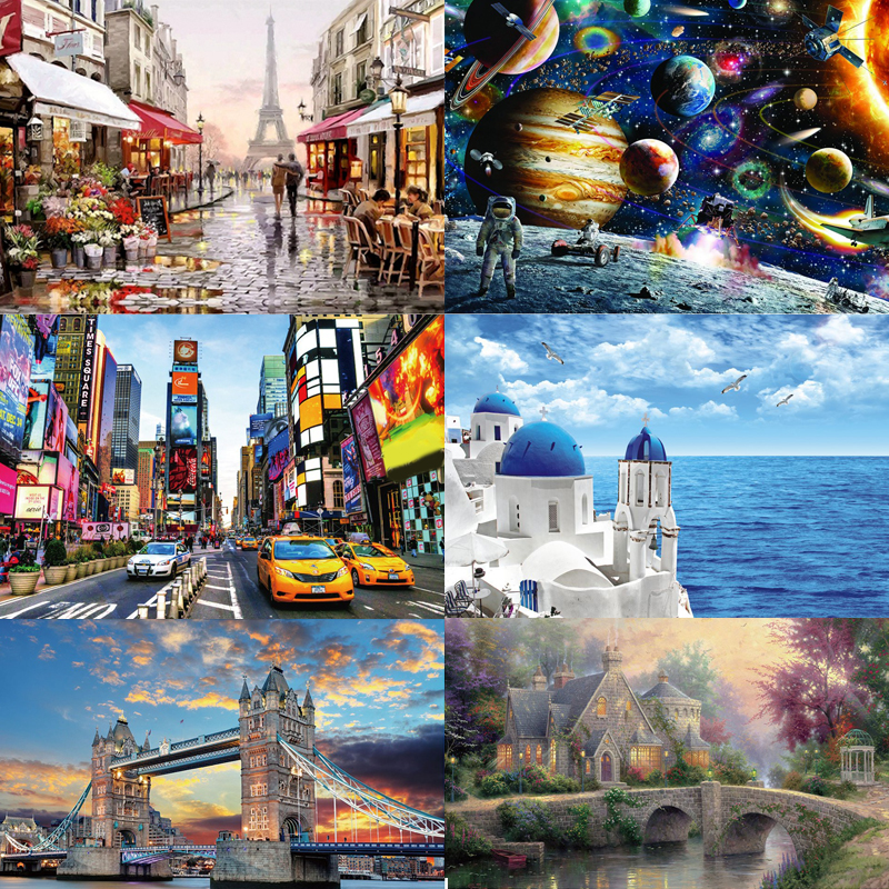 19 Styles New Jigsaw Puzzle 1000 Pieces For Adults Educational Game Toys Paper Adult Puzzles