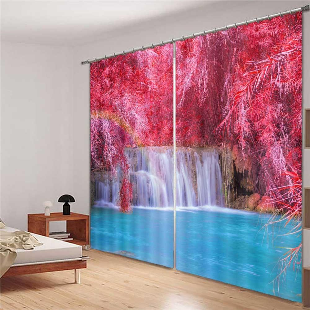 Curtains Vorhang Schlafzimmer Blackout Waterfall Scenery 3d Curtains Any Room Window Simple Curtain Design Rideaux Pour Le Salon Curtains Aliexpress