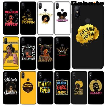 Babaite 2bunz Melanin Poppin Aba black girl magic Phone Cover for Redmi 5 plus Note 5 Xuiaomi Mi 8 8SE 6 MIX 2 2S Mobile Cases image