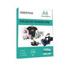 Papel de transferencia térmica A4 de 100 hojas para transferencia por sublimación, para camisetas de algodón y poliéster, telas de cojines, ropa, tazas, funda para teléfono, Impresión de Desig