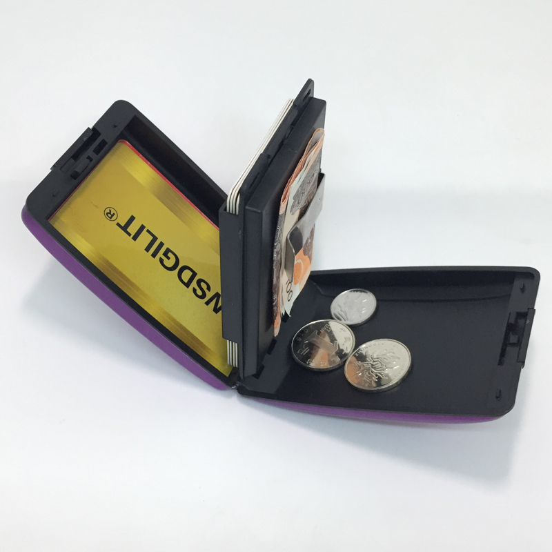 RFID Blocking Credit Card Holder Protector Metal Aluminum Travel Wallet Case For Men Women Business Coins Keys Name Card