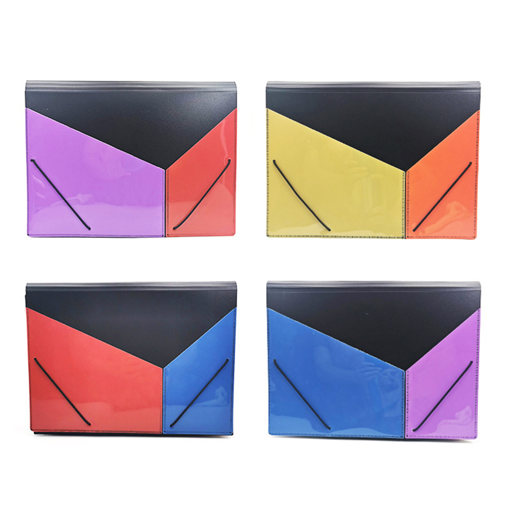 High Quality A4 Expanding Multi-layer File Folder Document Organizer 13 Pockets Accordion Bag for Documents Office Supplies