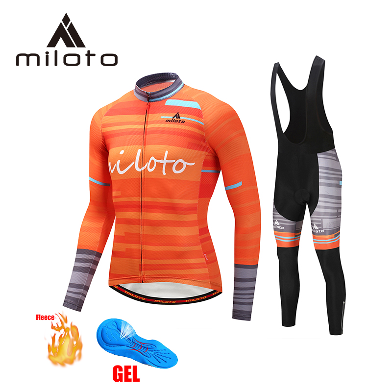MILOTO winter cycling clothing uniforme ciclismo 2019 men mountain bike maillot ciclismo riding bike cycling wear bicycle suits