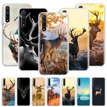Minimalist animal deer Hard Case for Huawei Y5 Y6 Y7 Y9 2019 Honor V30 Pro 10 20 Lite 20s 8x 9x Pro Play 3e Cover Capa