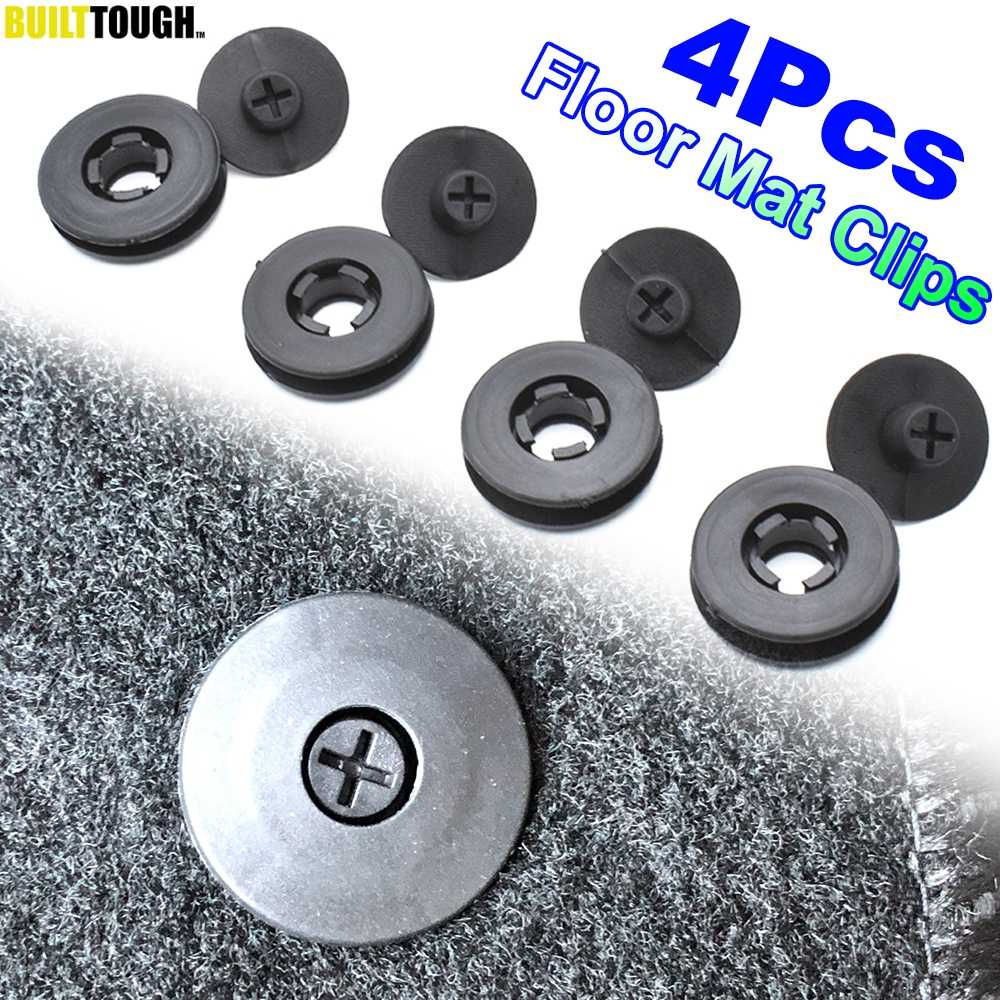 4pcs Universal Car Floor Mat Clips Retention Holders Grips Carpet Fixing Clamps Buckles Anti Skid Fastener Retainer Resistant