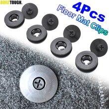 Suporte de retenção para tapete de carro, 4 unidades, universal, grampos de fixação, fivelas antiderrapante, retentor