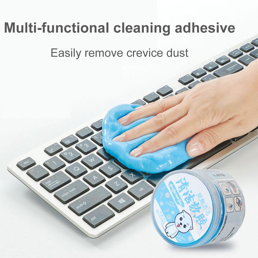 300g Car Washing Keyboard Wash Mud Car Computer Universal Crystal Magic Dust Putty Cleaning Gel Slime Car Wash Mud Cleaning Gel