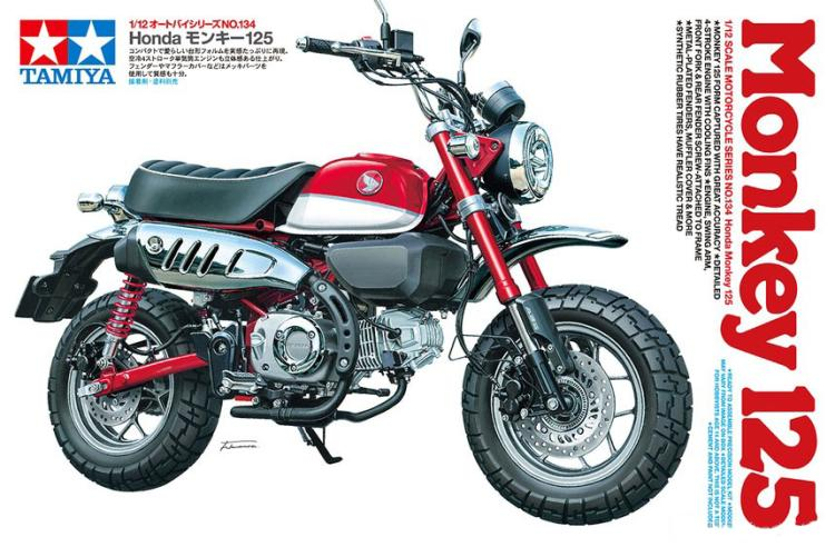 <font><b>1/12</b></font> Honda MONKEY 125 <font><b>Motorcycle</b></font> <font><b>Model</b></font> 14134 image