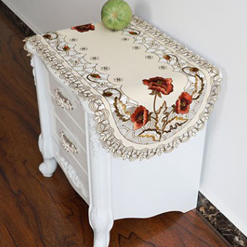 1pcs 40 85cm Home Vintage Embroidered Fabric Rectangular Tablecloth For Wedding Party Event Banquet Decoration Tablecloth hot in Tablecloths from Home Garden