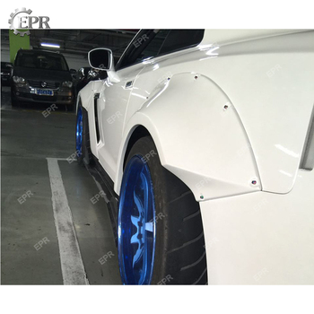 Glass Fiber Flare Wheel Arch Trim For Nissan GTR R35 TP Style Front & Rear Fender Set 4pcs