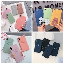 Phone Case For iphone 6 6s 7 8 5 5S SE Matte Silicon Soft Cute Love Heart Couple Deer Cover For iphone 7 8 plus x xs max xr