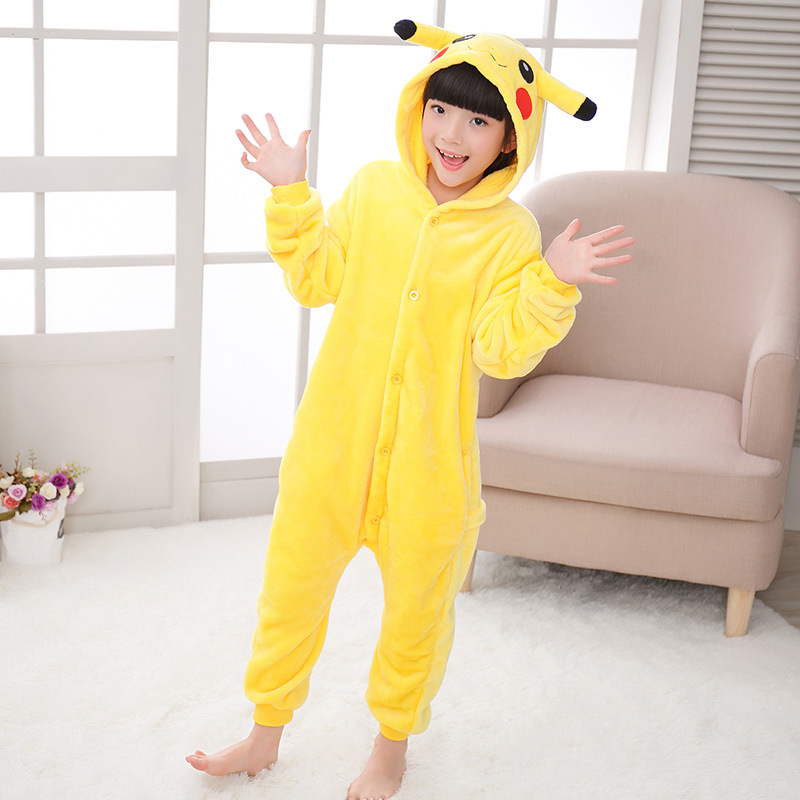 Pikachu Pokemon Jumpsuit Animal Anime Cosplay Costumes Kids Party Clothes Halloween Children's Day Gift