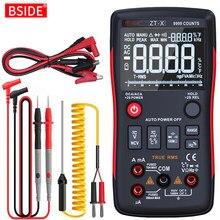 Multímetro digital tester 9999 bside ZT-X triple display temperatura voltímetro acdc tensão ncv ohmhz capacitância do diodo