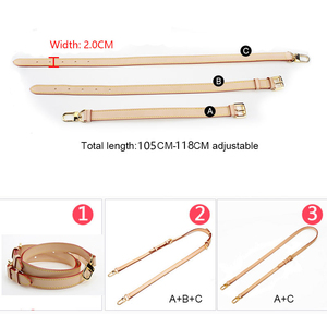 Image 5 - BAMADER Brand High Quality Genuine Leather Bag Strap Length 107CM 119CM Luxury Adjustable Shoulder Strap Women Bag Accessorie