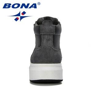 Image 2 - BONA 2019 New Designer High Top męskie buty wulkanizowane Trend wygodne męskie obuwie Outdoor antypoślizgowe buty Tenis Masculino