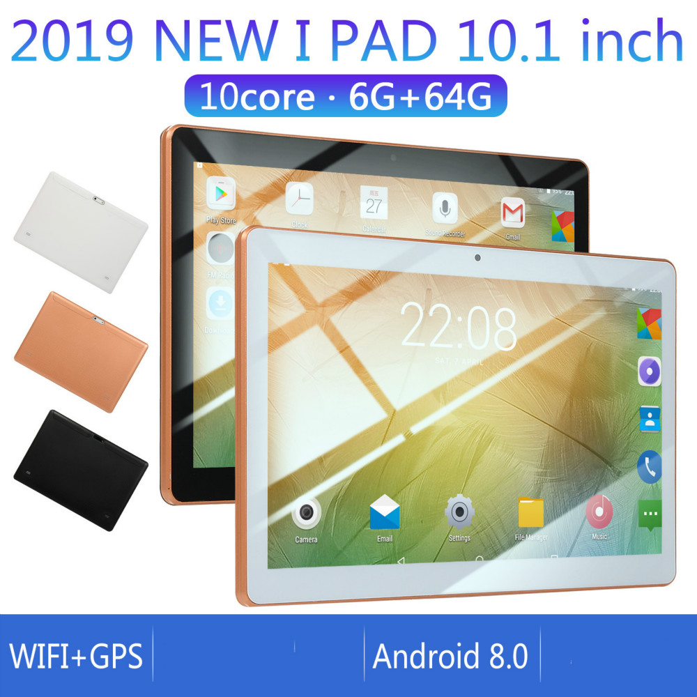 Original 10-inch Full-screen Dual-card Tablet WIFI System Ten-core Large Memory 6G Memory +16/64G ROM Tablet Andriod 8.0