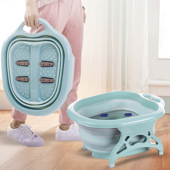 Foldable Foot Bucket Bath Tub Folding Bucket Basin Heating Massager Foot Spa Pedicure Tub Massage Bath Soak Feet With Heat Se цена 2017