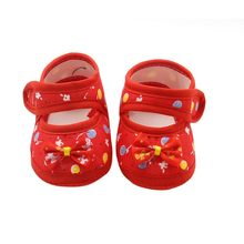 Summer Baby Girls Soft Sole First Walkers Round Dot Mary Jane Shoes With Bowknot Shoes(China)