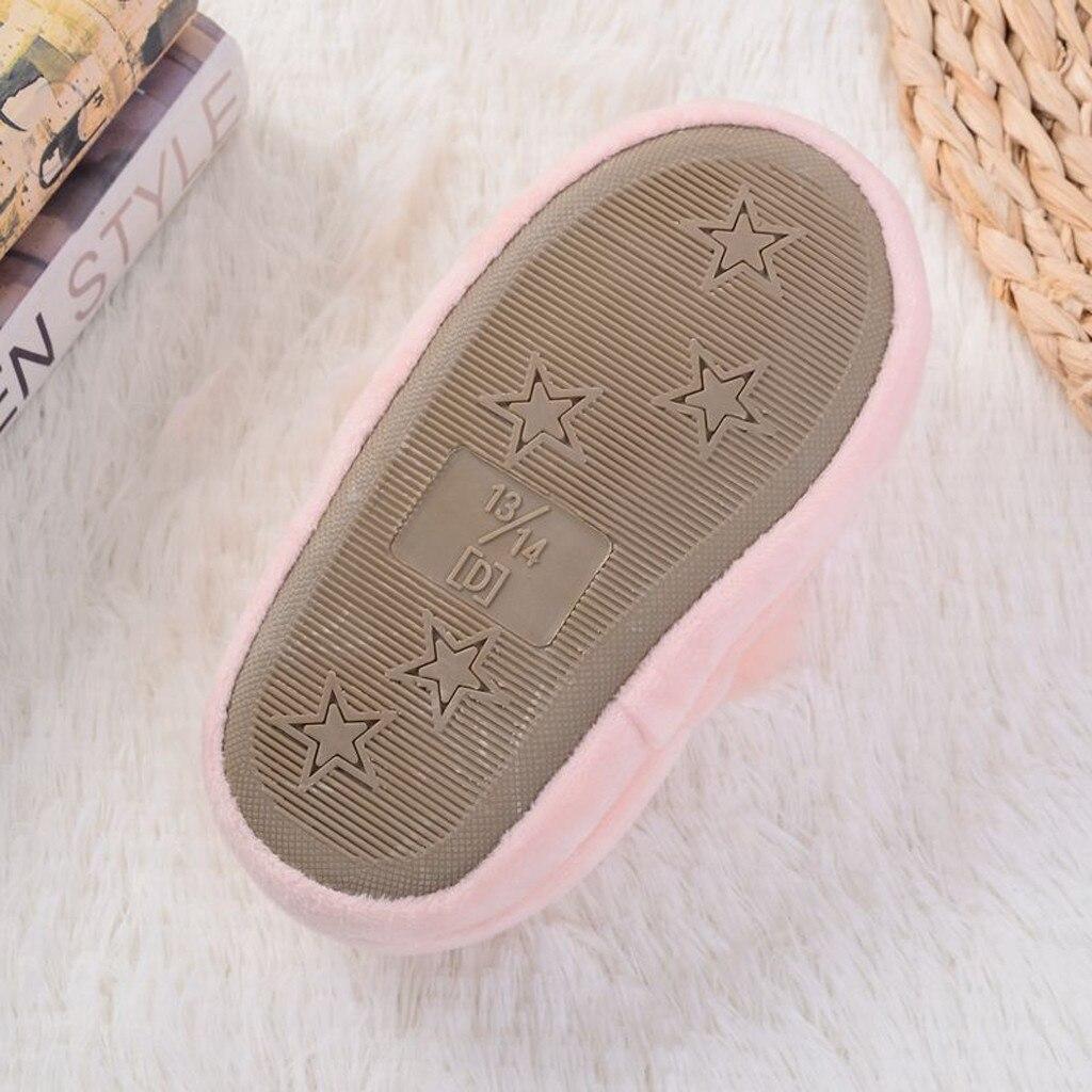 H642b4d4d83364fc0be24a7ebf9bcd54ez Sapatos para crianças de algodão, sapatos para crianças meninos e meninas de outono, chinelos fofos com orelhas de coelho, espessamento de bola, sapatos internos