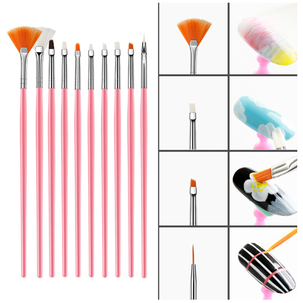 2020 new 15Pcs UV GEL Acrylic Nail Art Tip Design Dotting Painting Pen Polish Brush Tools Manicure Set