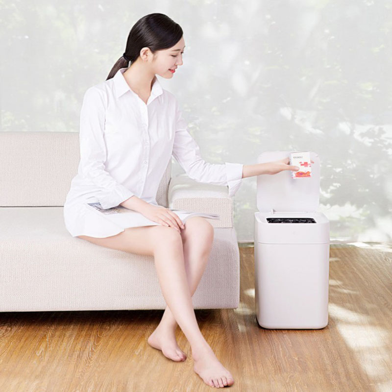 Intelligent Induction Automatic Motion Sensor Trash Bin Multifunction Plastic Trash Can Toilet Waste Bin Dustbin Garbage Bucket