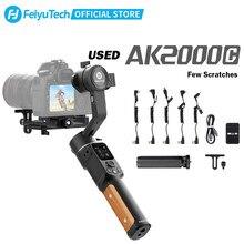 Feiyutech oficial remodelado ak2000c 3-axis câmera cardan estabilizador com arranhões liberação dobrável para sony panasonic canon