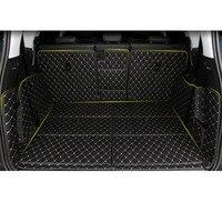 Lsrtw2017 cuir voiture coffre tapis Cargo Liner pour Peugeot 5008 2019 2020 tapis tapis Interioe accessoires   -