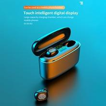 INSMA бутонов с QI Беспроводная зарядка чехол Мини наушники-вкладыши TWS Bluetooth 5,0 Беспроводной гарнитура наушники Hi-Fi стерео Беспроводной гарнит...
