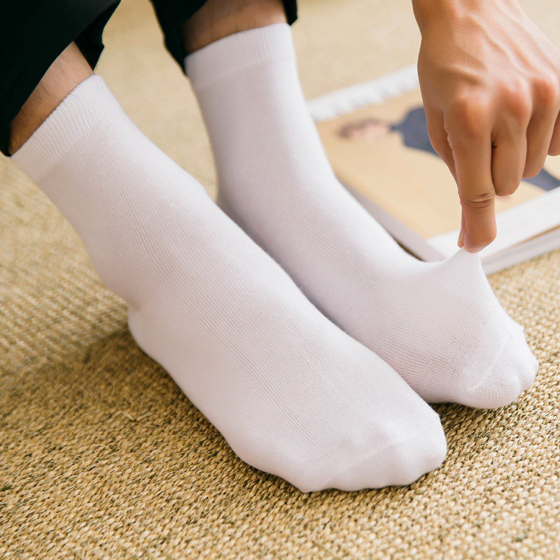 1 Pair Men Business Socks For Men Cotton Crew Socks Men Solid Sock Ladies Clothing Uff01