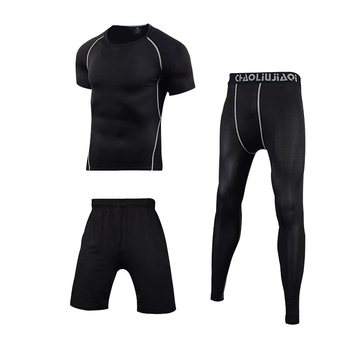 Men Sportswear Compression Sport Suits Quick Dry Running Sets Clothes Sports Joggers Training Gym Fitness Tracksuits Running Set 16