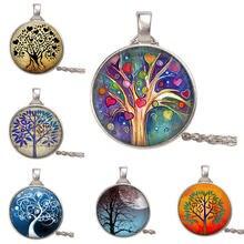 Ожерелье и кулон из стекла Древо жизни винтажное ожерелье с