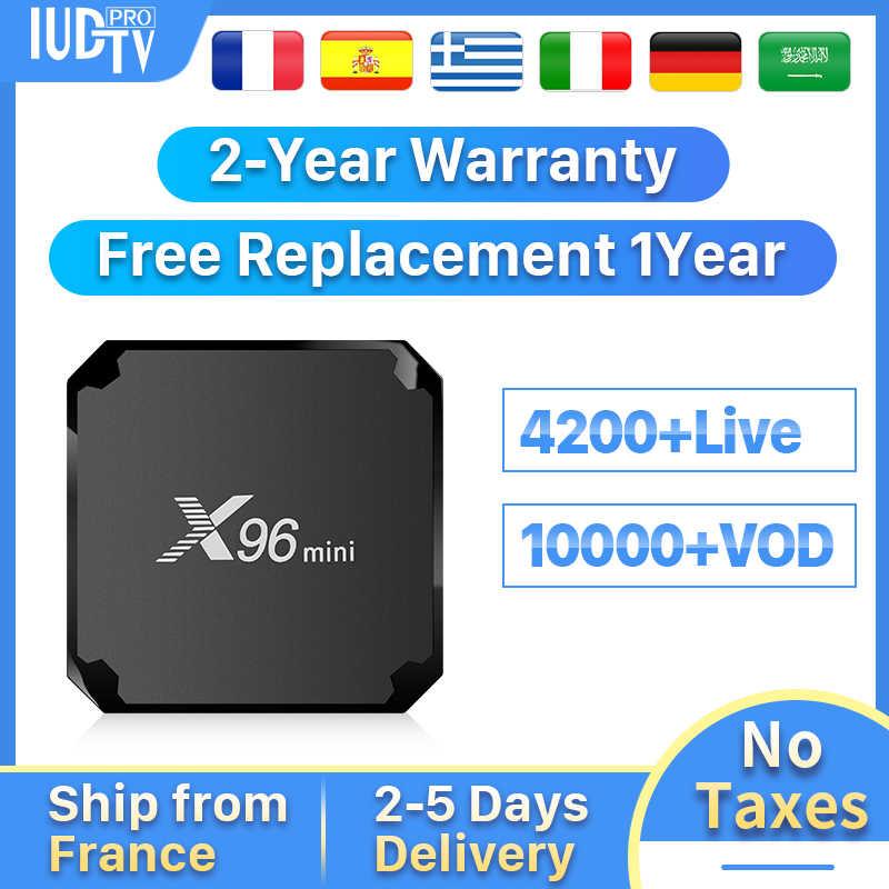 IPTV Suecia España Portugal Italia X96 mini Android 7,1 TV BOX 4K X96mini español Italia alemán griego IP TV IUDTV pro código de IPTV