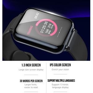 Image 4 - COXANG b57 חכם שעון עם לחץ מדידת קצב לב צג b57 Smartwatch עמיד למים מד צעדים חכם שעון ladie/גברים