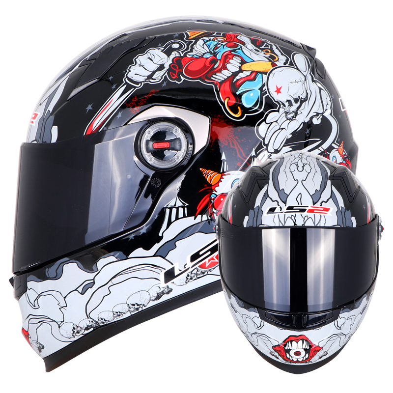 LS2 FF358 casque moto intégral Alex Barros motocross racing homme femme ls2 Original ECE approuvé multi-couleur pare-soleil - 4