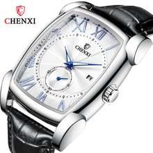 Chenxi Лидирующий бренд роскошные Ретро квадратные мужские часы