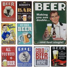 Get more info on the 30X20cm Craft Plaque Metal Signs Home Hotel Decoration Special Cold Beer Bar Vintage Painting Wall Poster Art Home Decor H52
