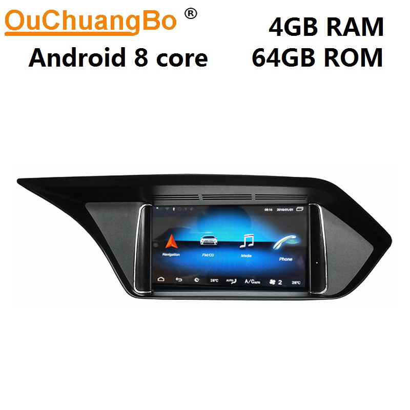 Ouchuangbo car multimedia gps audio for Mercedes <font><b>Benz</b></font> screen E class <font><b>W212</b></font> S212 E250 E300 2009-2017 with 8 Core <font><b>android</b></font> 9.0 4+64 image