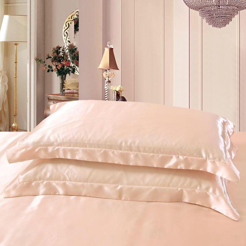 Emulation silk Satin Pillowcase Pillow Case 1Pc Silk Pillow Case 48cmx74cm Various Colors to Choose Standard/Queen