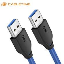 CABLETIME USB Verlängerung Kabel USB 3,0 High Speed Conntector Stecker auf Stecker für Laptop PC Huawei Macbook C271