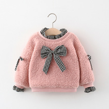 Coats Sweaters Girls Toddler Baby Wool Tops Pullovers Warm Thicken Kids Cartoon