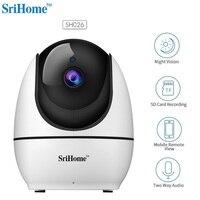 Neue SriHome SH026 WiFi 1080P Drahtlose Sicherheit IP Kamera HD 2 4G H.265 Smart Networking IP Kamera 120 Grad wifi Baby Kamera-in Überwachungskameras aus Sicherheit und Schutz bei