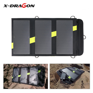 Image 3 - X DRAGON 20W Solar Panel Charger Portable Solar Battery Chargers Technology for iPhone ipad Android phones Hiking Outdoors