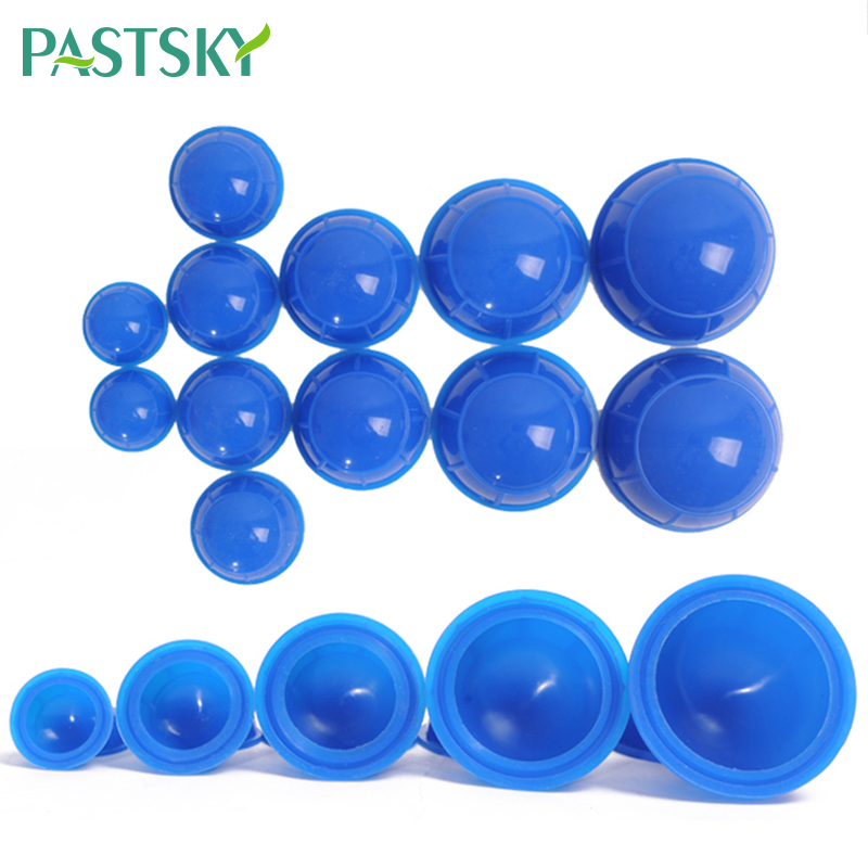12PCS/ Silicone Medical Vacuum Cans Massage Suction Cup Full Body Vacuum Massager Therapy Suction Cup Set Chinese Cupping