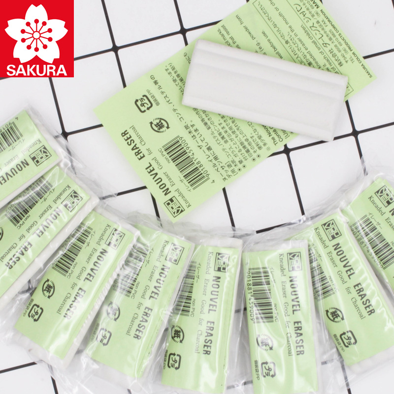 SAKURA Plasticity Pencil Eraser Rubber Erasers NER-100 Durable Flexible Sketching Painting Stationery Students School Supplies