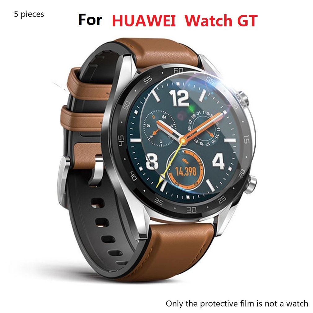 5pcs/lot 2018 Tempered Glass For Huawei Watch GT Screen Protector 9H 2.5D Smart Watch For Huawei Watch GT Protective Glass Film