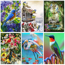 Full Round Drill Animals 5D DIY Diamond Painting Birds And Flowers Art Diamond Mosaic Embroidery Cross Stitch Home Decor Gifts full drill round 5d diy diamond painting birds resin crystal embroidery cross stitch animal diamond mosaic art home decor gifts