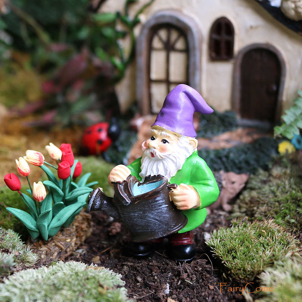 FairyCome 5pcs Fairy Garden Miniatures Gnome Dwarf Micro Mini Gnome  Figurines Garden Gnomes and Fairys Resin Dwarf for Terrarium|Figurines &  Miniatures| - AliExpress