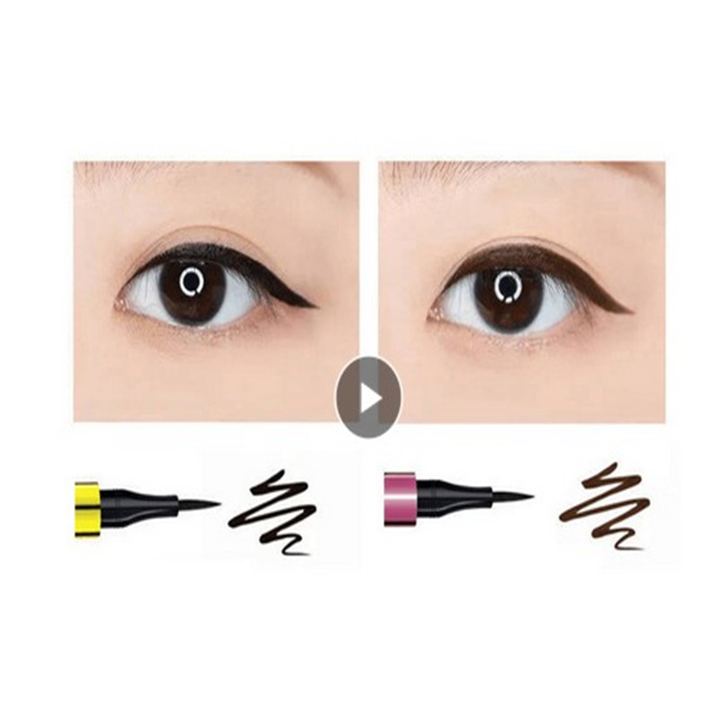Eyeliner Makeup Liquid Pen Smooth Beauty Quick Dry Waterproof Long Lasting Pencil Beginners Must Black Brown Smudge Proof TSLM2